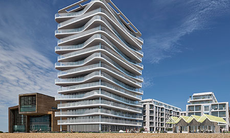 Visualisation of the Bayside Apartments new build on Worthing seafront